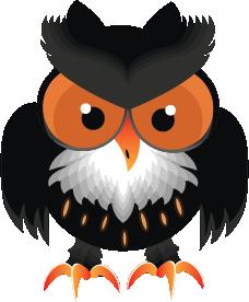 Owl Cartoon Halloween by doctrina-kharkov