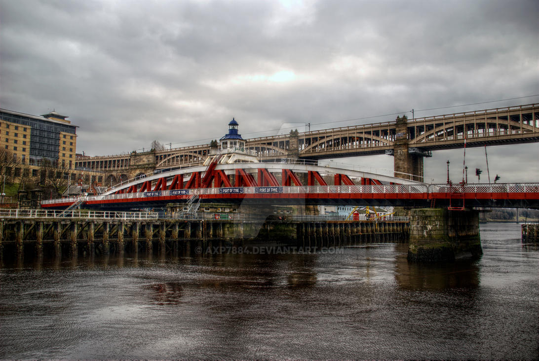 HDR Tyne Swing Bridge by axp7884