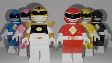 Mighty Morphin Power Rangers the Movie Minifigs