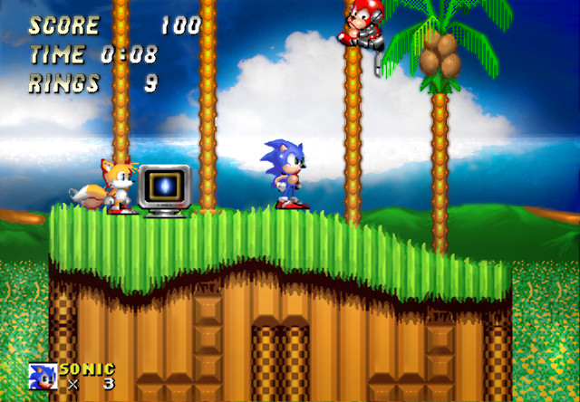 Sonic 2 Emerald Hill r...