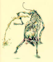 Skeleton Dog by Pascalou