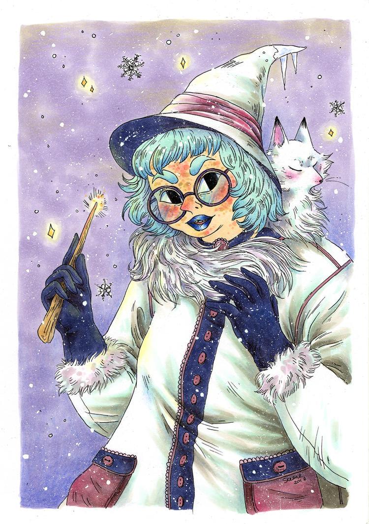 Seasonal Witch: Winter by Pascalou