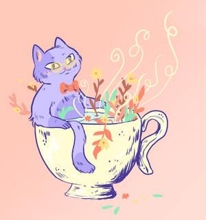 Cat in a Cup of Tea