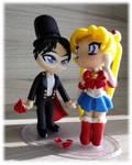 Sailor Moon and Tuxedo