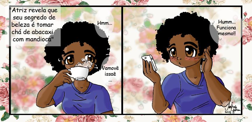 Tira #01 - Segredo de beleza by AndressaYokoGohan