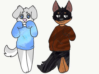 5 Point Puppy Adoptables by PoppywhisperSkywish
