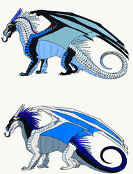 Frosts Clutch with DragonRiderWarriors dragon by PoppywhisperSkywish