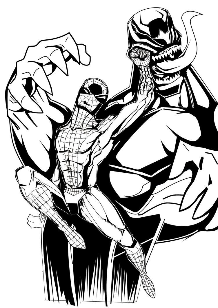 Venom Vs Spiderman By Lefthandmaster On Deviantart