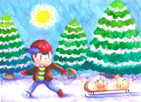 Earthbound - Sled Ride for Two