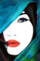 White face, red lips, blue eyes by muffinn2