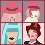 Four Pastel Portraits