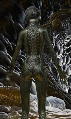 Alien Back Infection Photos - By maledettoangelo7