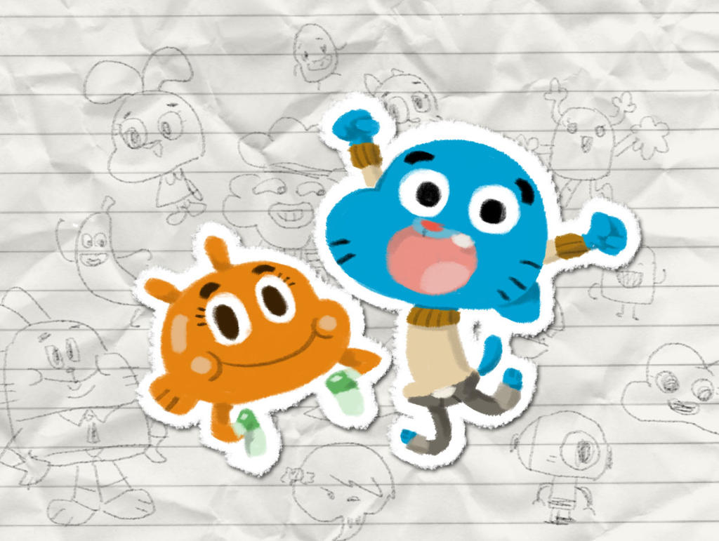 Gumball and Darwin by juhuar