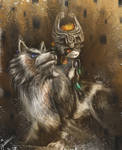 Wolf Link and Midna Fan Art