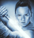 Drawing of Daisy Ridley as Rey