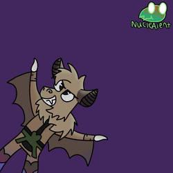 Late Halloween Pose: Stellaluna as Dio