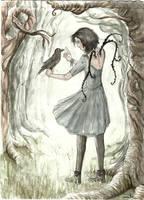 Fille au Corbeau by Ludmila-Cera-Foce