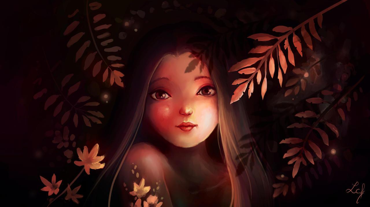 Autumn's Eyes by Ludmila-Cera-Foce