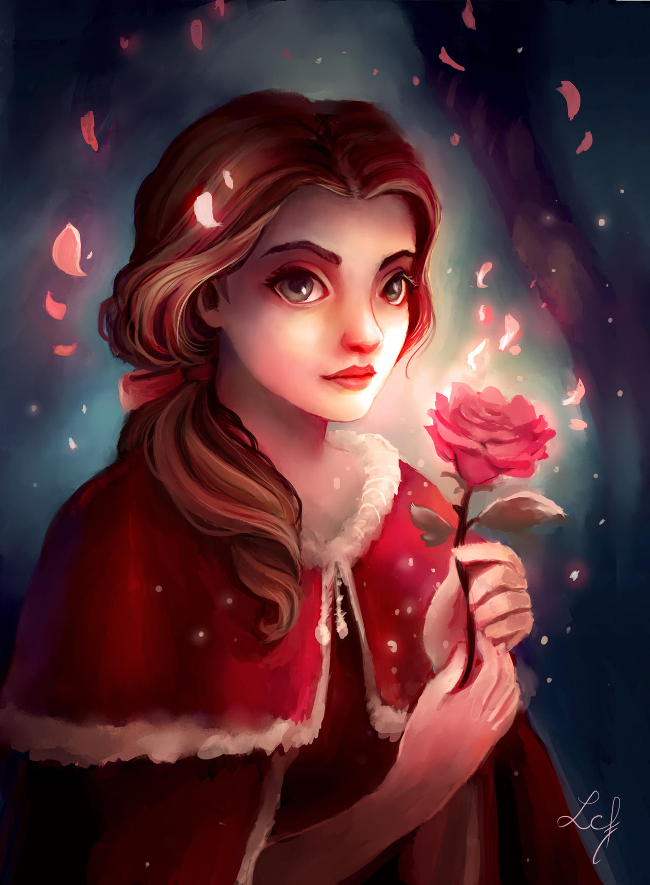 Belle and the Rose by Ludmila Cera Foce on DeviantArt