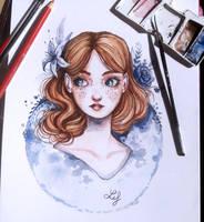 Fleurs bleues by Ludmila-Cera-Foce