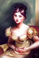 Painting study - Sir Thomas Lawrence by Ludmila-Cera-Foce