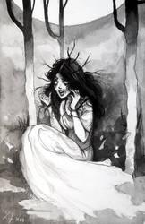 Inktober 2017 - Gloomy Girl #01 - Banshee by Ludmila-Cera-Foce