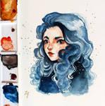 A Blue Girl