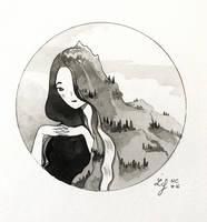 Inktober 2018 - Nature Creature 16 : Mountain