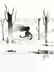 Inktober 2018 - Nature Creature 24 : Mist