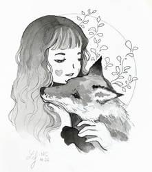 Inktober 2018 - Nature Creature 26 : Fox