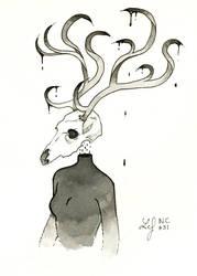 Inktober 2018 - Nature Creature 31 : Deer