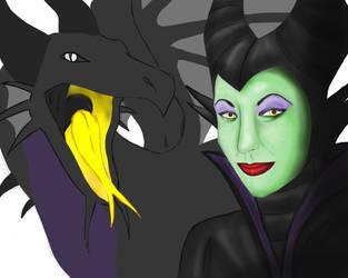 Maleficent WIP 2 by WoofMewMew
