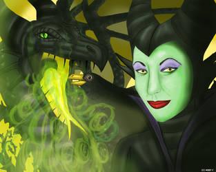 Maleficent by WoofMewMew