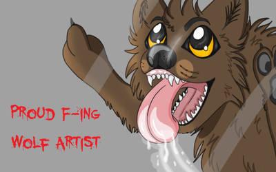 Proud Wolf Artist by WoofMewMew