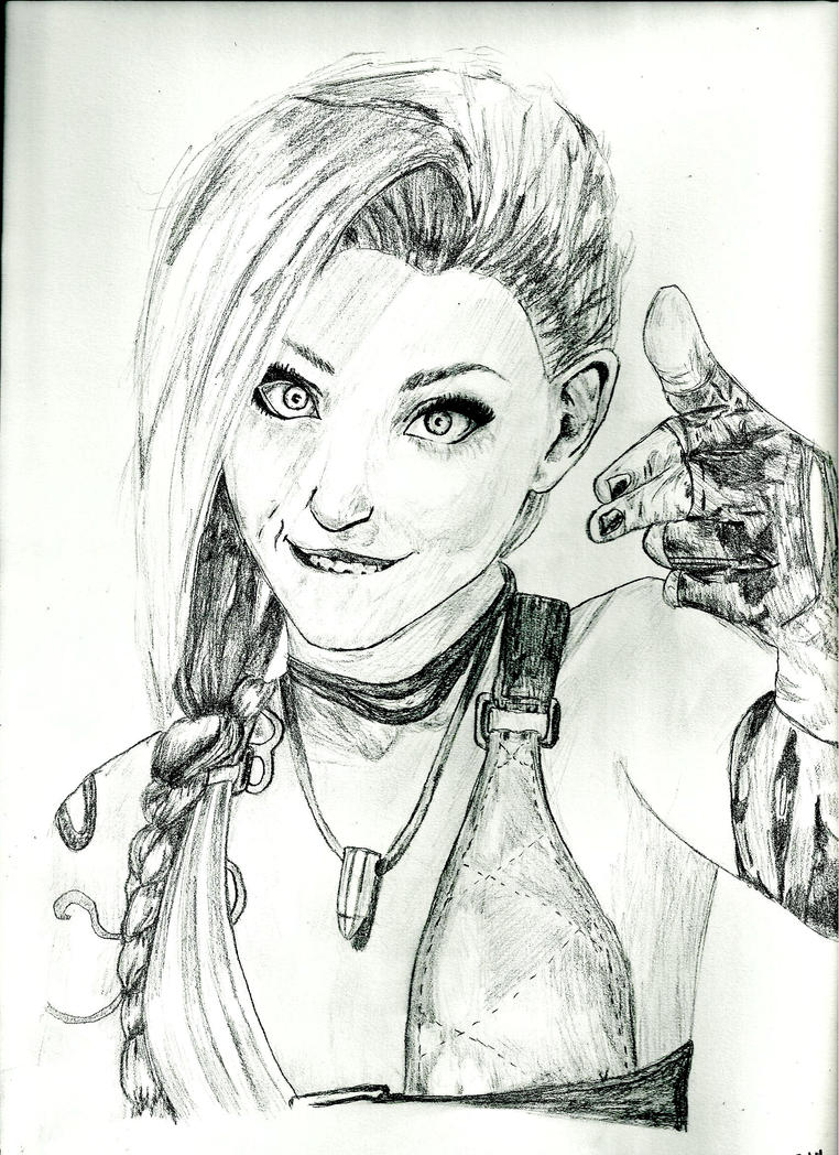 Jinx Portrait by thestatickilledme