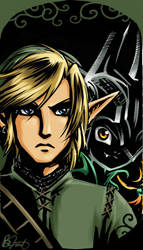 Link and Midna by Saehral