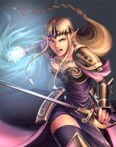 Princess Zelda by Saehral