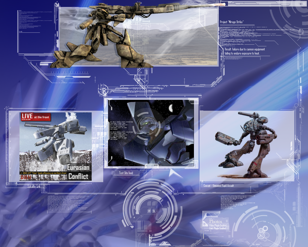 Desktop Project: Mecha Warfare by Garvonis