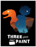 Three Guys That Paint - Silhouette Poster