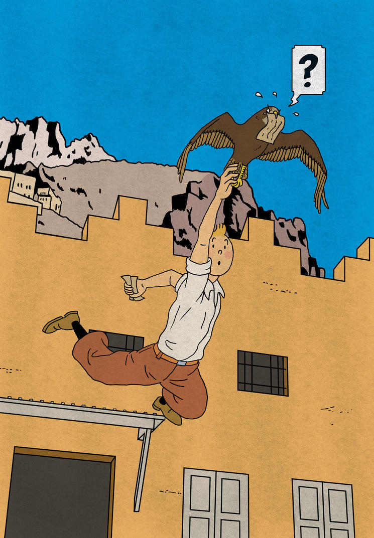 Tintin Redraw - Falcon Chase by Katy133
