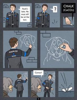 Detroit Become Human Comic - Chalk - Page 1 by Katy133