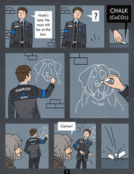 Detroit Become Human Comic - Chalk - Page 1 by Katy133