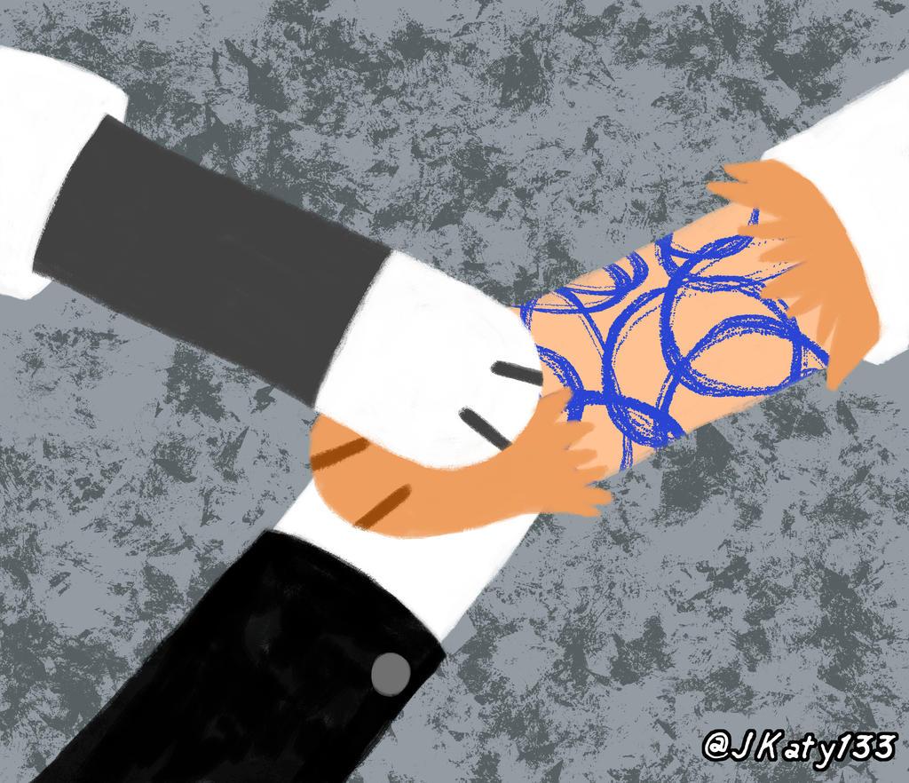 Handshake Meme - The Butler Detective - Blank by Katy133 on