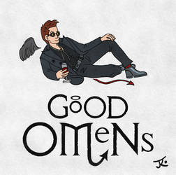 Good Omens Cover - Crowley by Katy133