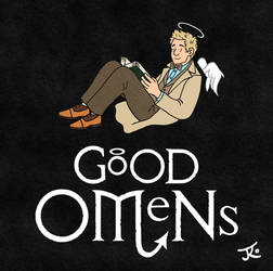 Good Omens Cover - Aziraphale by Katy133