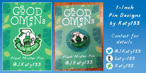 Plant Mister Pin - Good Omens