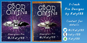 Wings Hourglass Pin - Good Omens