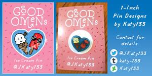 Ice Cream Pin - Good Omens