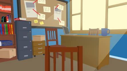 Detective Office - Vtuber Background