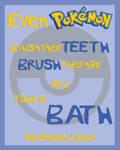 Pokemon Bathroom Poster